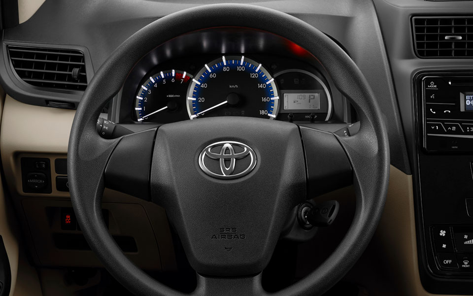 three dial instrument cluster in toyota avanza 2020