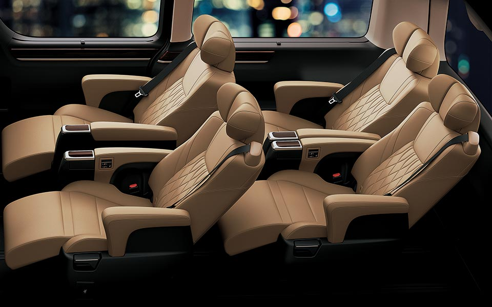 relaxing and elegant interior in toyota granvia 2020