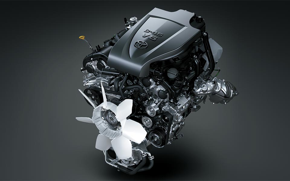 The 7GR-FKS engine in toyota granvia 2020