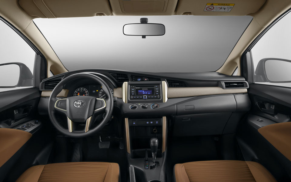 flexible and spacious interior in toyota innova 2020
