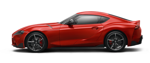 Toyota Supra  Prominence Red 2020 side-view