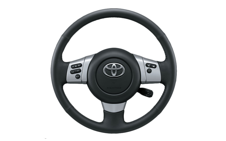 wide range of functionality on the toyota fj cruiser's steering wheel